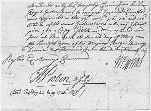 William_Burnett_Letter_May_24,_1726_-_NARA_-_193049