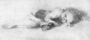 800px-Pencil_Drawing_of_Sleeping_Child,_Vanderpoel