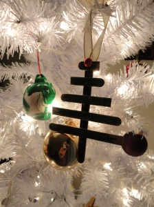 Some of our kid-made ornaments. <3