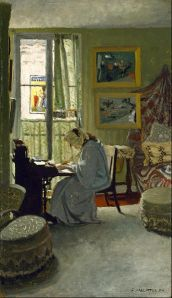 Woman Writing in an Interior (1904) Félix Emile-Jean Vallotton (1865/1925)