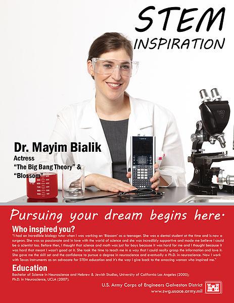 463px-Dr_Mayim_Bialik_USACE_poster