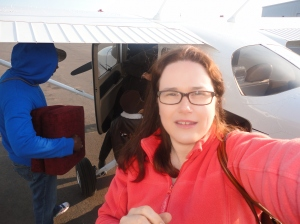 My husband is in the blue sweater behind me. This is as close to a photo of him as you're likely going to get! LOL!