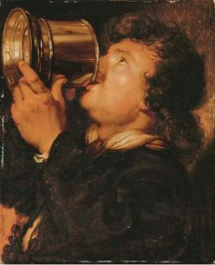 485px-Karel_van_Mander_III_-_man_drinking_beer_from_a_tankard