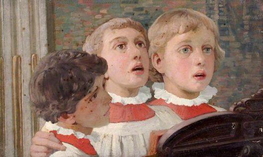 Choir Boys Singing by William Herbert Allen.