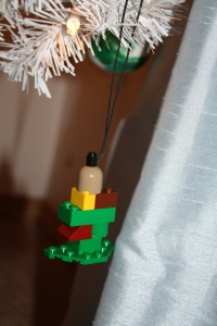 A Lego Christmas tree made by my son this year. <3